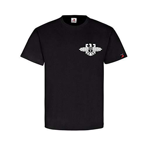 Bundespolizei Abzeichen BPOL Bundesgrenzschutz GSG9 Wappen T Shirt #26352, Farbe:Schwarz, Größe:L