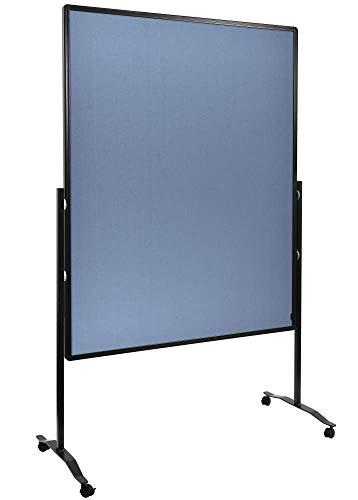 Legamaster 7-204210 Moderationswand Premium Plus, , Flipchartfunktion, höhenverstellbar im Hoch- oder Querformat, filzbespannt, blaugrau