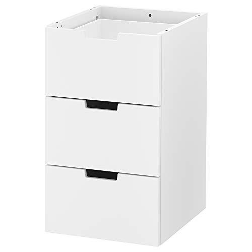 NORDLI Kommode mit 3 Schubladen, 3 Schubladen, Weiß