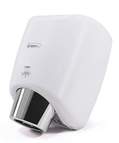 Compacto automático Secador de manos. Se seca rápidamente las manos con una potente corriente de aire caliente. Comerciales cuarto de baño. Fuerte Anti vandalismo de weißmetallabdeckung.