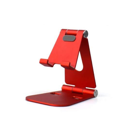 Fonetic Solutions - Soporte de escritorio doble ajustable para teléfono móvil, soporte, soporte para teléfono móvil y tableta, aleación de aluminio, soporte de sobremesa compatible con Lenovo Phab 2