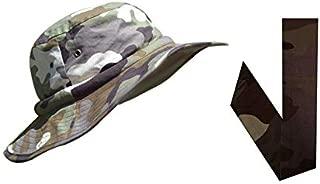   Water Evaporative Cooling Crystals   Camo Safari Hatbandoo Size S/M with Matching Neckbandoo Free   Unisex Hat