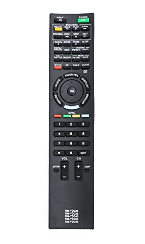 sony remote control outlets New Replaced Remote RM-YD035 RM-YD029 RM-YD033 RM-YD034 RM-YD035 fit for Sony BRAVIA LCD TV KDL40HX800 KDL55HX800 RMYD040 KDL-40HX800 KDL-55HX800 KDL-46HX800 KDL46HX800 KDL-55HX801P KDL55HX801P TV