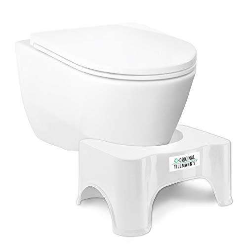 Toilettenhocker | WC Hocker | WC Sitz Hocker | Hilfsmittel gegen Verstopfung, Hämorrhoiden, Reizdarm, Blähungen | Einfache Darmentleerung | Gesunde & aktive Darmflora | Premiumqualität von Tillmann\'s