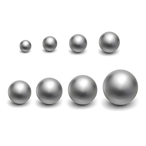 8 pcs Coin Ring Making Balls Chrome Steel Balls Monkey Fist Balls,Assortment of 1/4Inch, 5/16Inch, 3/8Inch,7/16Inch,1/2Inch, 9/16Inch, 5/8Inch and 3/4Inch