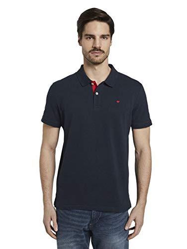 Tom Tailor Basic Polo_1016502, 10668/Sky Captain Blue, L para Hombre