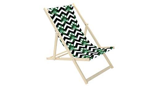 Novamat Chaise longue pliante en bois 3 feuilles