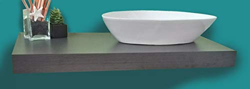 Mensola Sospesa per Lavabo Design moderno L 100 cm, compra dal produttore! (Rovere grigio)