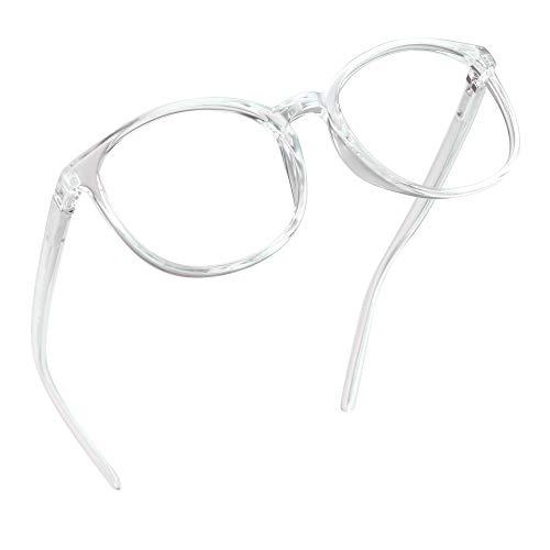 LifeArt Blaue Licht Blockieren Brille, Anti-Augen-Müdigkeit, Computer Lesebrillen, TV Brille für Frauen Männer (Transparent, Nein Vergrößerung)