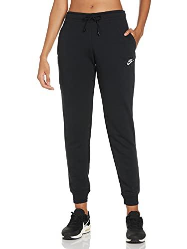 NIKE W NSW Essntl Pant Reg FLC Sport Trousers, Mujer, Black/(White), XL
