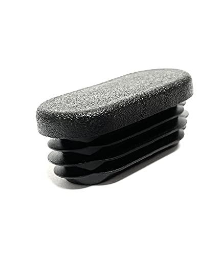 Design61 10 tapones ovalados para tuberías, 30 x 15 mm, con láminas para grosor de pared de hasta 1-2,5 mm