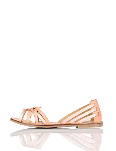Amazon-Marke: FIND Open Toe Hurrache Offene Sandalen, Gold (Rose Gold), 39 EU