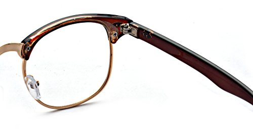 Outray Vintage Half Frame Horn Rimmed Sunglasses Polarized For Men Women 2142a1 Black