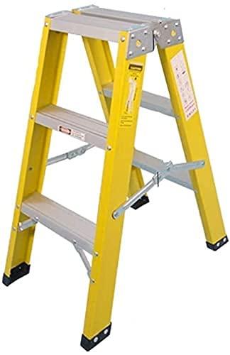 XIAOYU Multipurposecostruction Ladder, Due lati Ladder Garden 2 3   4 Step Ladder Warehouse Ladder Pieghevole Step Sgabello Giallo Multips Taglie (Dimensioni: 46 * 90 * 114 cm) ( Size : 43*71*89Cm )