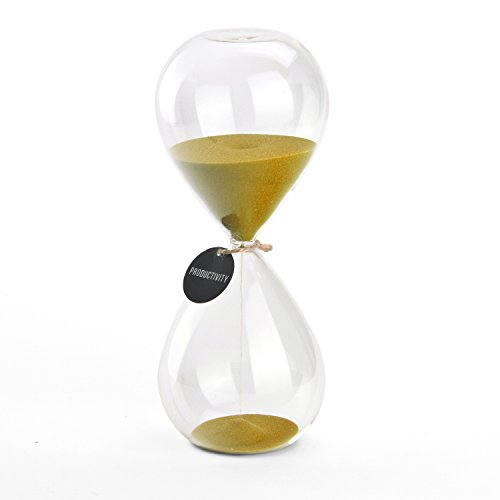Hourglass Sand Timers - SWISSELITE Biloba Hourglass Sand Timer, 8.5 Inch...