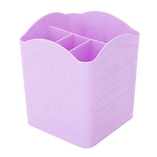Cosmetische opbergdoos, draagbaar briefpapier koffer 3 kleur opbergdoos briefpapier cosmetische & Manicure gereedschap container met Eiffeltoren patroon Paars