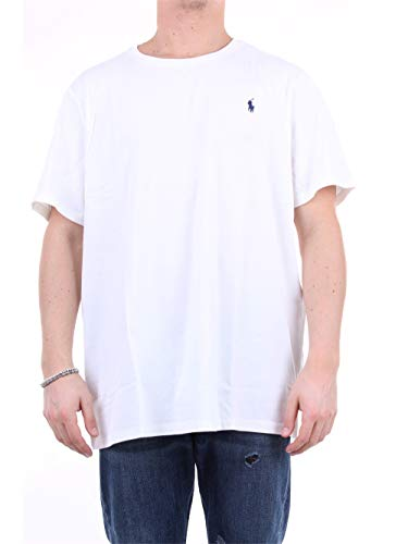 Polo Ralph Lauren tee-Shirts Camiseta, Blanco (White A1000),