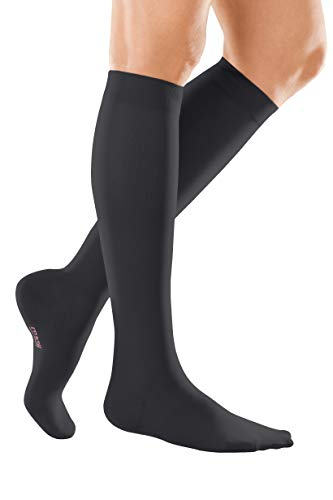 medi mediven elegance - 0240512 Knielange Damen Kompressionsstrümpfe mit geschlossener Spitze | CCL2 | ohne Haftband | schwarz | Gr. II normal