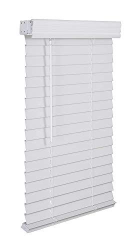 "generic 1 2"" Faux Wood Blind Cordless Wand Tilt White (31.5x36)"