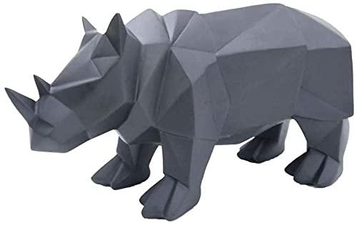 YANGHONDD Escultura Estatua De La Escultura Inicio Esculturas Estatuas Y Figuras Escultura Estatua De Animal Estatuas De Resina De Rinoceronte Escultura De Resina Adornos De Decoración del Hogar
