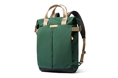 Bellroy Tokyo Totepack、耐水性織布のコンバーチブルバックパック&トートバッグ(15インチのノートPC、タブレット、ノート、ケーブル、飲料ボトル、着替え、毎日の必需品) - Forest