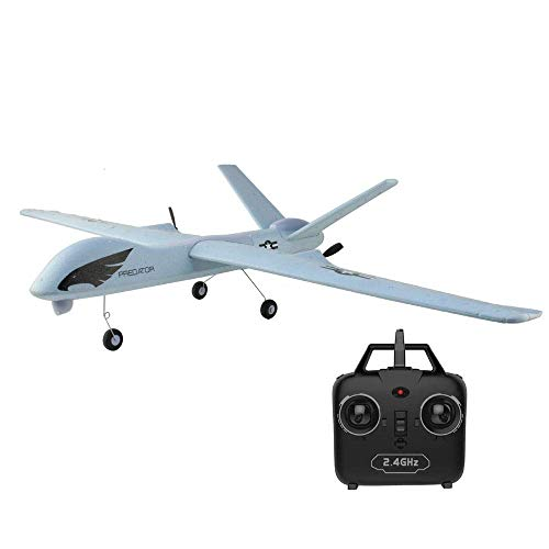 Drohneks Schaum Fernbedienung Flugzeuge 2 Kanäle LED-Beleuchtung Kind Junge Manöver Elektro Anfänger Segelflugzeug 2,4 GHz Quadcopter Simulation Hubschrauber Navigation Modellflugzeug Spielzeug L