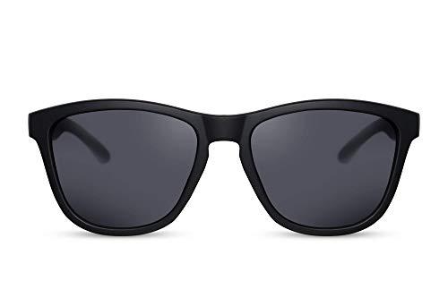 Cheapass Gafas de Sol estilosas Gafas de Sol Deportivas Lentes Tintadas Protección UV400 Hombre Mujer (CA: 001 - Black)