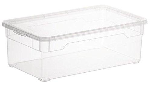 """Rotho Aufbewahrungsboxen """"Clear Box"""", APPMYBOX,mit QR-Code,Box von 5-22 Liter mit Deckel (6x5Liter)"""