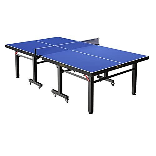 Mesas de Ping Pong Mesa De Ping Pong Plegable, Mesa De Tenis De Mesa Profesional con Ruedas, Mesa De Ping-Pong para Adultos/Niños para Hotel/Gimnasio/Escuela
