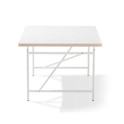 Kinderschreibtisch Eiermann- Tischplatte Melamin weiß 150cm x 75cm Weiss