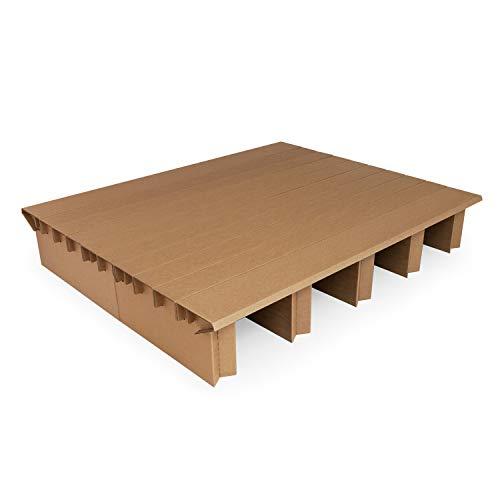 Pappbett Dream 165 cm Breite, 200 cm Länge, Erweiterung mit passenden Bettkästen möglich