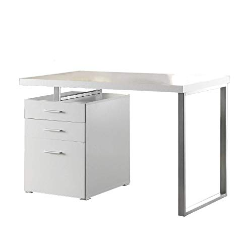 Coaster Home Furniture Brennan 3-Drawer Reversible set up Office Desk | White