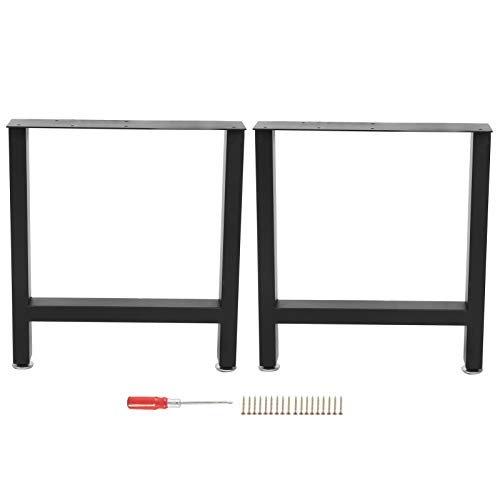 lyrlody- S/L Metal Table Legs Table Legs Table Legs Set Furniture Legs Dining Table Desk Legs, Load Capacity 800 lbs, Pack of 2 (S)