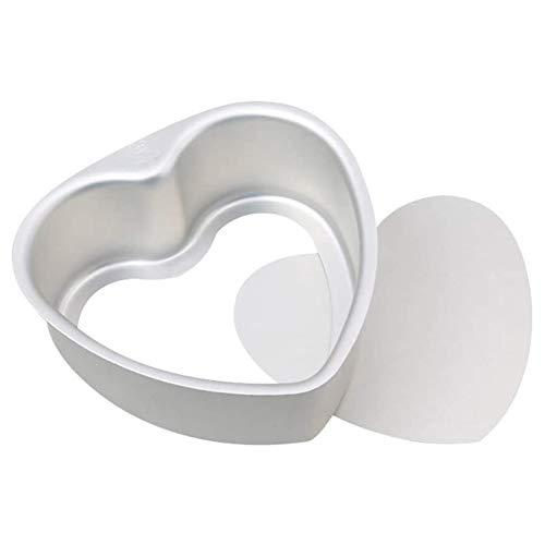 XYDZ En Forma de Corazón Molde de Pastel en Vivo, 8 Pulgadas Hogar Cocina Molde para Hornear Bandeja de Pastel Molde para Pastel en Forma de Corazón Aluminio Anodizado