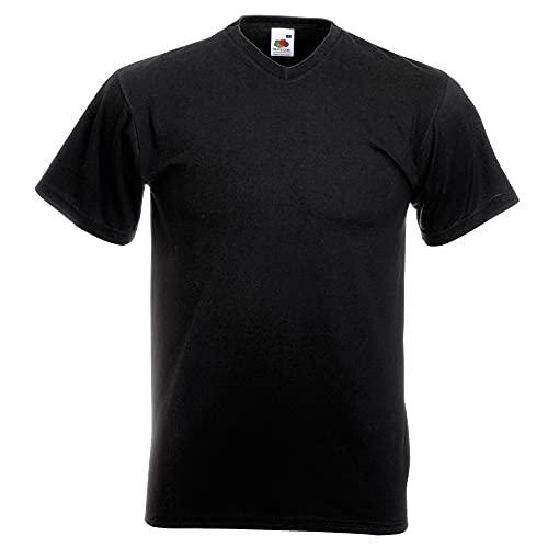Fruit of the Loom Herren T-Shirt Valueweight V-Neck T 61-066-0 Black S