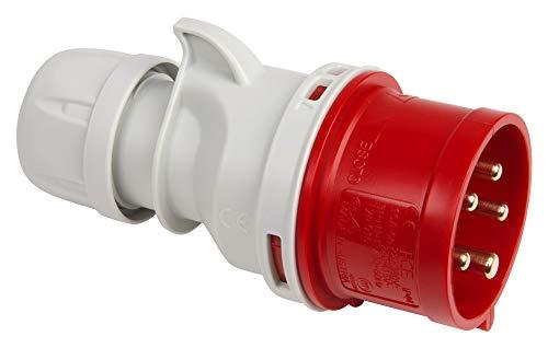 Kopp 174601005 CEE Stecker, 5-polig, 16 A, 400 V, rot