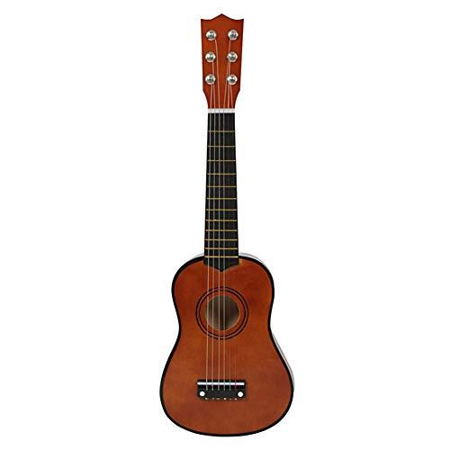 SISHUINIANHUA Mini Guitarra acústica de 21 Pulgadas Ukulele Guitarra clásica Musical Instrumental Instructor de Madera Principiante Música Amantes Niños Regalo,3