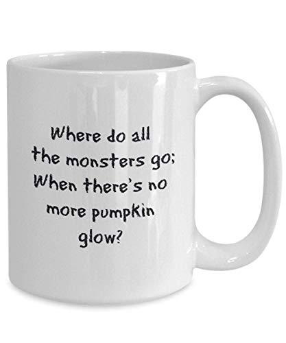 N\A Happy Scary Halloween Coffee Mug Cat Gift Design Disfraz Bruja Candy DIY Spooky House