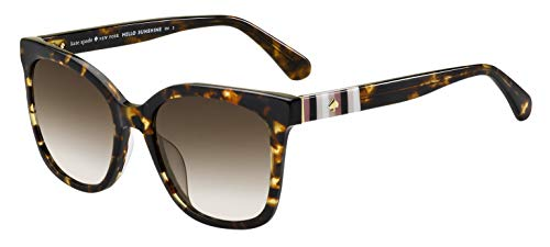 Kate Spade New York Women#039s Kiya Square Sunglasses Havana 53 mm