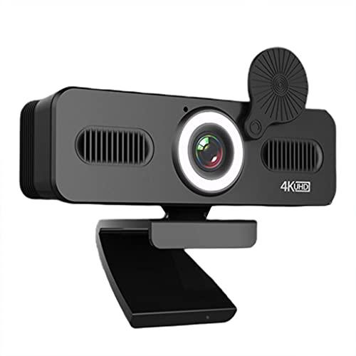 FEILINKA Webcam USB 1080P/2K/4K pour PC Ordinateur Beauté Mise au point Automatique Free Drive Webcam avec micro/couverture/lumière de remplissage pour diffusion en continu