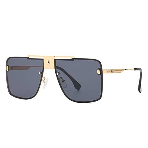 Gafas de Sol, Gafas de Sol de Marco Cuadrado de Moda, Cajas de Gafas de Regalo (Color : Gray Flakes)