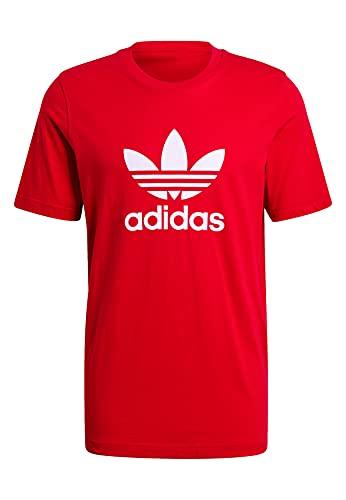 adidas GN3468 Trefoil T-Shirt T-Shirt Uomo Scarlet/White S