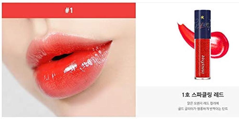 機知に富んだ最大限ブレーキ[イニスフリー.INNISFREE](ホリデーエディション)スパークリンググリッターティント5.4g/ Sparkling Glitter Tint (#1 SPARKLING RED)