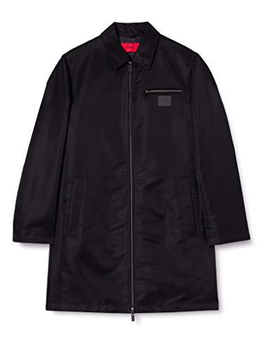 HUGO Mosaka2111 10230931 01 Abrigo para Lluvia, Negro1, 50 para Hombre