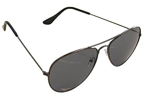 Gafas de piloto, gafas de sol, de vuelo, porno, con bisagra de muelle, no reflejan (transparentes) en distintos colores Schwarz Rahmen / Schwarz Gläser Talla única