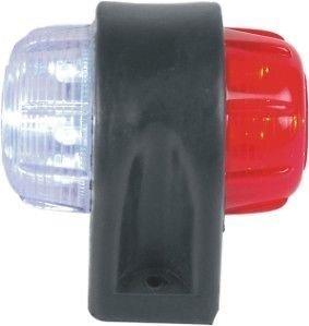 Lite Vert: 2X LED End Contour Marqueur Clignotant 24V pour Camions Remorques Bus Coach Caravan - 12001104/12001103 - Rouge Blanc