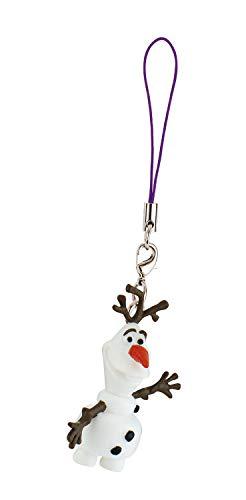 Bullyland 13073 - Schlüsselanhänger Walt Disney Frozen - Die Eiskönigin, Mini Olaf, ca. 4,5 cm groß, zum Befestigen am Schlüsselbund, Ranzen oder Rucksack
