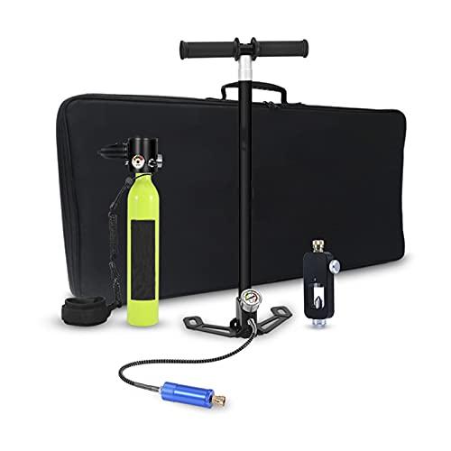 QIYE Equipo de Buceo para Tanque de Buceo, Cilindro de oxígeno para Mini Tanque de Buceo, con Capacidad de 15 a 20 Minutos Dispositivo de respiración subacuática de oxígeno para Buceo