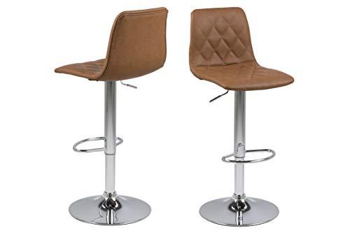 AC Design Enya - Taburete de Bar (plástico, 40 x 110 x 48,5 cm), Color marrón Claro