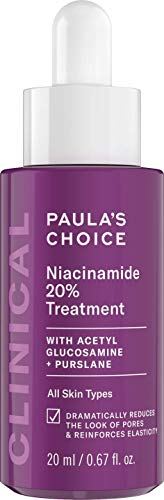 Paula's Choice Clinical Niacinamide 20% Treatment - Serum Minimiert Vergrößerte Poren, Pigmentflecken & Pickelmale - mit Niacinamid & Vitamin C - 20 ml